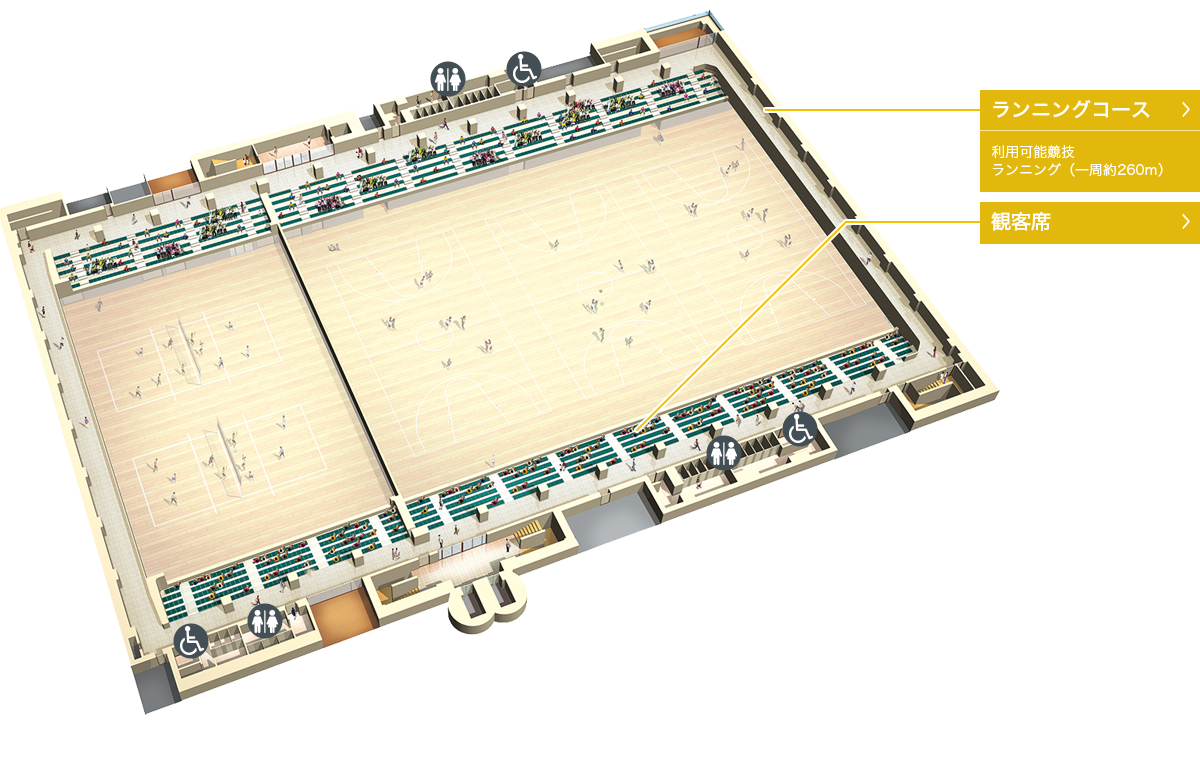 墨田区総合体育館のマップ4階