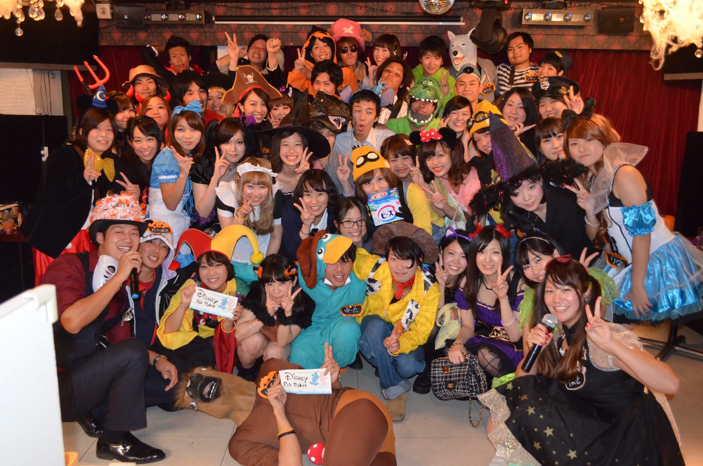 東京の仮装イベント街コン